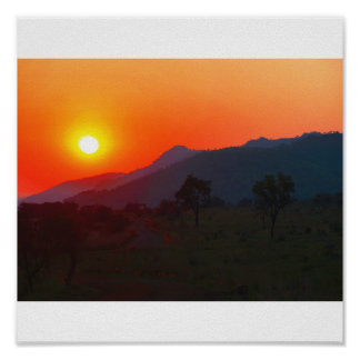 Sunset in South Africa Poster