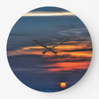 Sunset in St Petersburg Beach, Florida Large Clock