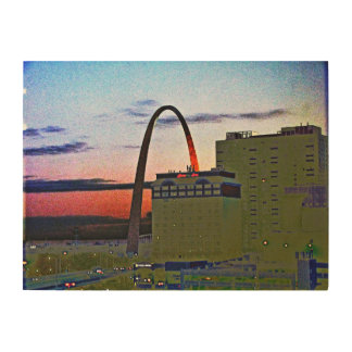 SUNSET in STL Wood Wall Art