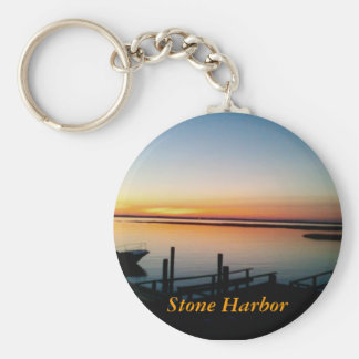 sunset in Stone Harbor keychain