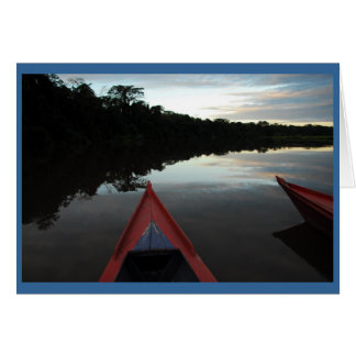"""Sunset in the Amazon"" Card"