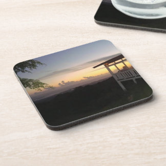Sunset in the Caribbean Drink Coaster