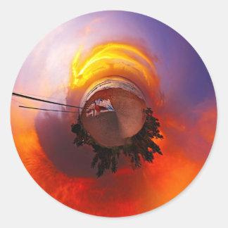 Sunset in the Caribbean Round Sticker