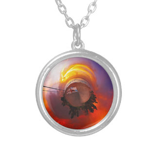 Sunset in the Caribbean Silver Plated Necklace