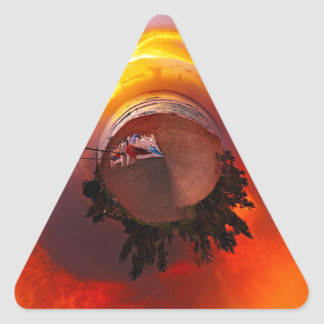 Sunset in the Caribbean Triangle Sticker