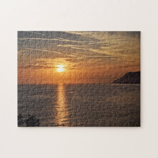 Sunset in the Cinque Terre, Italia Puzzle