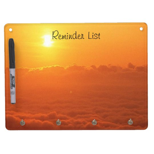 Sunset In The Clouds Reminder List Dry Erase Boards