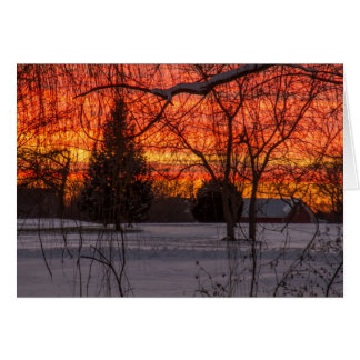 Sunset In The Country Blank Greeting Card