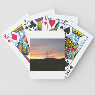 Sunset in the country poker deck
