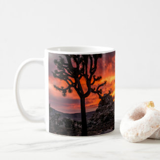 Sunset in the desert coffee mug