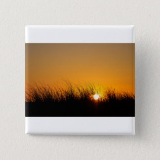 Sunset in the dunes 2 inch square button