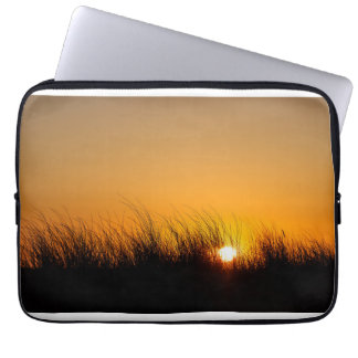 Sunset in the dunes laptop sleeve