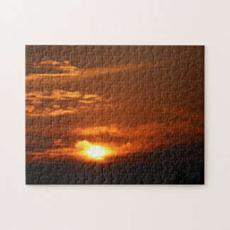 Sunset in the Flathead Valley Montana 11x14 Puzzle
