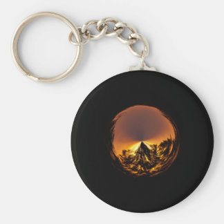 Sunset in the globe key chain