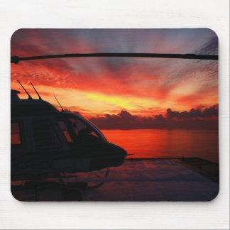 sunset in the gulf of mexico mouse pad
