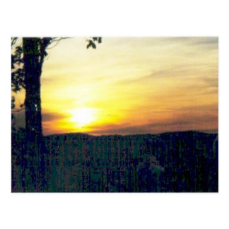 sunset in the smokies #68 postcard