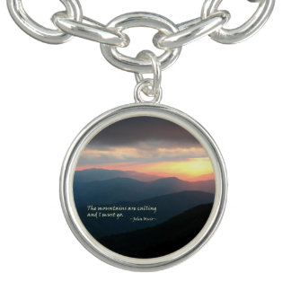 Sunset in the Smokies: Mtns are calling / Muir Charm Bracelet