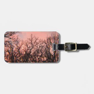Sunset in the Woods Bag Tag