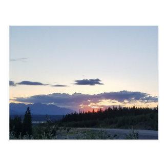 Sunset in the Yukon Postcard