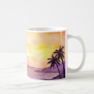 Sunset in Tropics by Farida Greenfield Coffee Mug