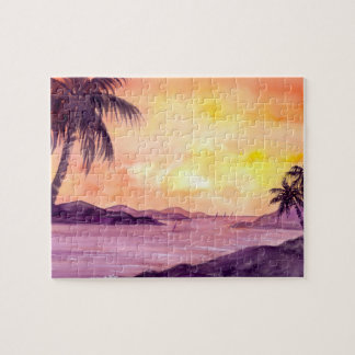 Sunset in Tropics by Farida Greenfield Jigsaw Puzzle