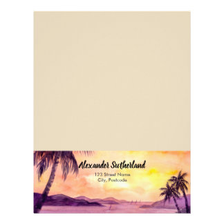 Sunset in Tropics by Farida Greenfield Letterhead
