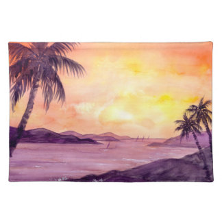 Sunset in Tropics by Farida Greenfield Placemat