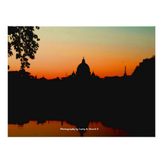 Sunset in Vatican City Poster