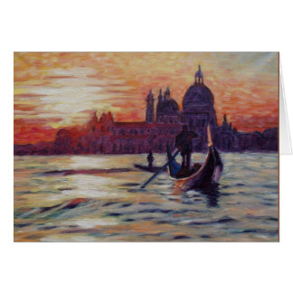 Sunset in Venice Card