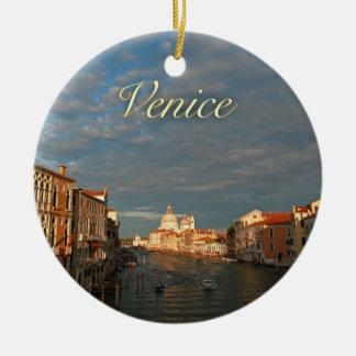 Sunset in Venice Italy Ceramic Ornament