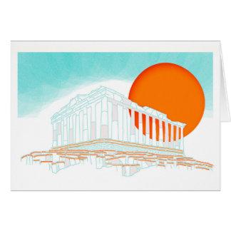 sunset inside Parthenon Card