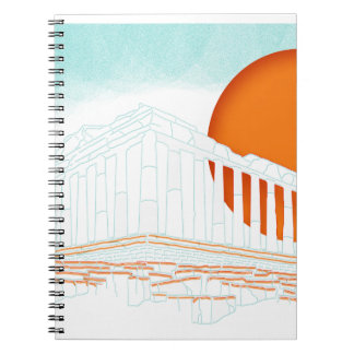 sunset inside Parthenon Note Book
