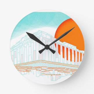 sunset inside Parthenon Wall Clock