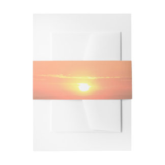 Sunset Invitation Belly Bands Invitation Belly Band
