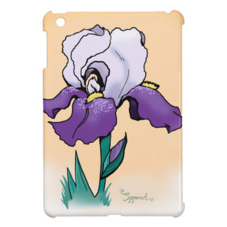Sunset Iris Cute Floral iPad Mini Cover