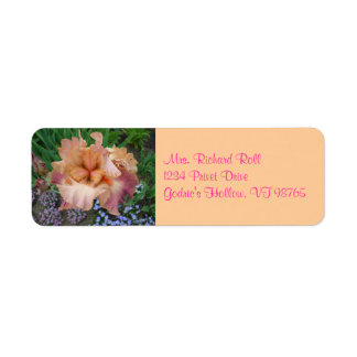 Sunset Iris Return Address Labels