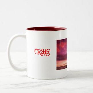 Sunset_Island, schaber, craig Two-Tone Coffee Mug