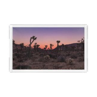 Sunset Joshua Tree National Park Acrylic Tray