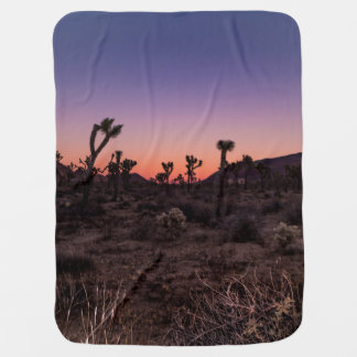 Sunset Joshua Tree National Park Baby Blanket