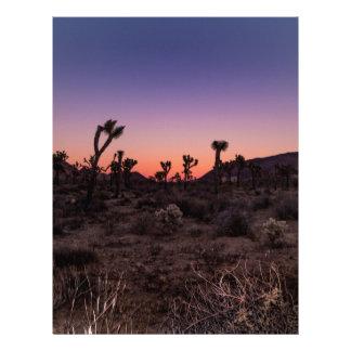 Sunset Joshua Tree National Park Custom Letterhead