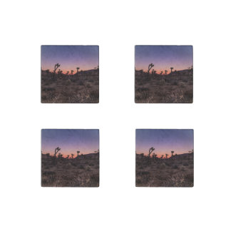 Sunset Joshua Tree National Park Stone Magnets