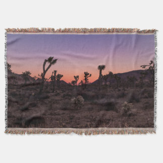 Sunset Joshua Tree National Park Throw Blanket