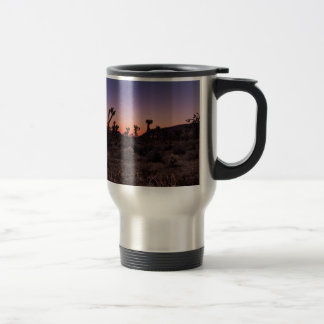 Sunset Joshua Tree National Park Travel Mug
