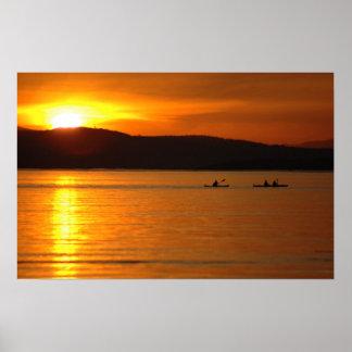 Sunset Kayak Poster