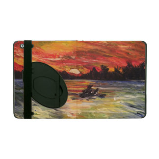 Sunset Kayaker Painting iPad Case