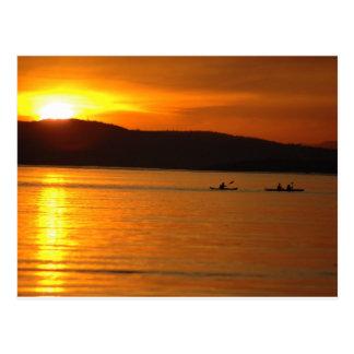 Sunset Kaykers Postcard