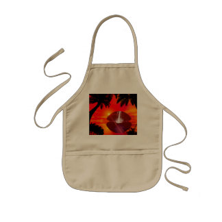 Sunset Kids Apron