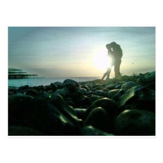 Sunset Kiss Postcard