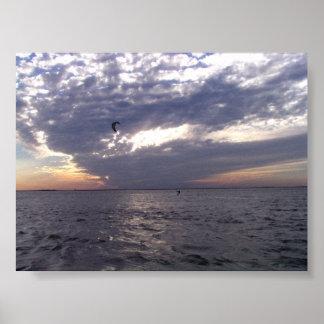 Sunset Kiteboarding Poster