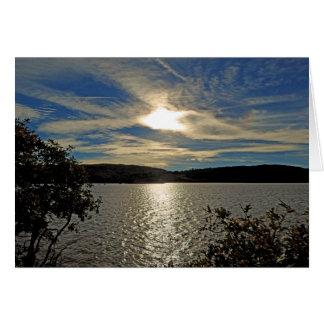 Sunset Kolob Lake Reservoir Utah Zion Blank Card